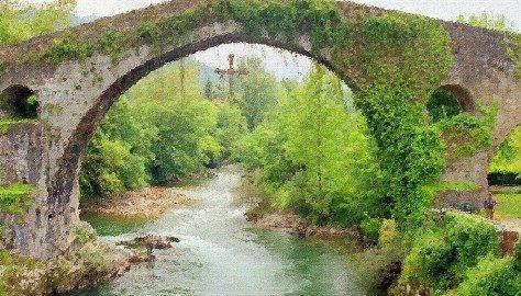 Roman Bridge Cangas De Onis Picos De Europa N.P. Spain 2005 done CR1