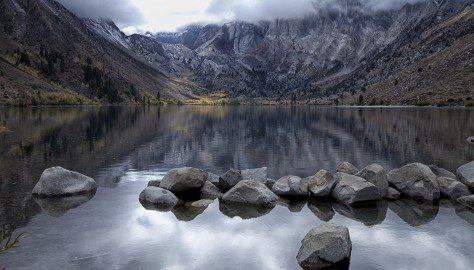 em Convict Lake Boulders and Fall Colors